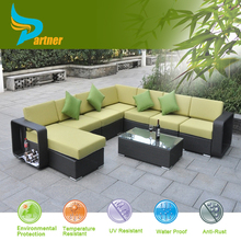 2015 nuovo design impermeabile esterno divano di vimini patio mobili da esterno in alluminio fodere per mobili in rattan