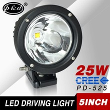12v 25w 5 inch round cre e led Spot beam car led driving lights