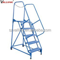 industrial steel portable stairs with platform