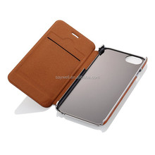 Hot selling flip pu leather case for iphone 6 with card slot , high quality phones protector