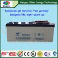La vida más larga de la batería! Oem 12v 200ah fábrica de venta directa de la batería de gel
