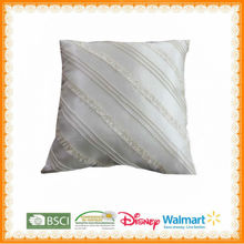 100%polyester of white cushioning home textile cushion