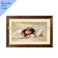 Wood frame photo frame photo printng wall decoration framed art painting