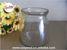 wide mouth 650ml clear Pudding Glass Jar best sale
