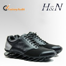 2015 new arrived men leather fashion sport shoes