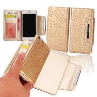 two in one glitter powder leather cell phone case for iphone 6