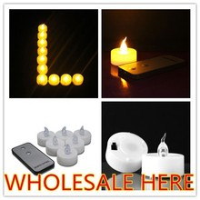 Battery Powered Electric Candles,Led Flameless Candles,Remote led tealights