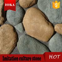 Castle grey rock stone wall cladding