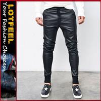 Coated Span Denim Cotton Baggy Jogger Sweatpants (LOTG158)