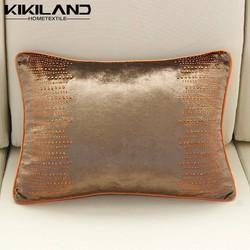 2015 new fashion brown pillow cases silk velvet pillow cases diamond iron