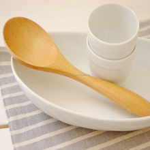 Disposable Stylish Pots Cones Bamboo Wooden Canape Mixing Coconut Spoon