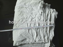 industrial white cotton wiping rag from sheet