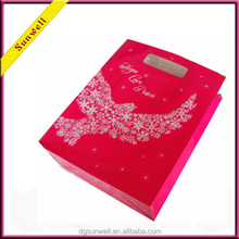 High quality cheap chirstmas day gift paper bag&handy handle types with logo printed