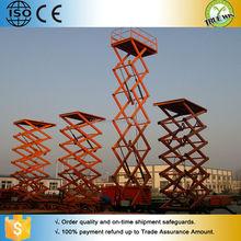 Diesel Vertical Four-wheel Manual For repair mobile hydraulic scissor lift