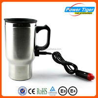 Stainless steel Car heating cup with cigarette