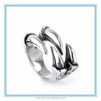 MECY LIFE Amazon in Europe and America jewelry wholesale personality titanium dragon claw ring gift for man