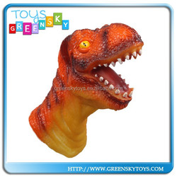 funny toy pvc dinosaur hand puppets