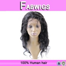 Fabwigs hair Wholesale cheap body wave lace front wig with baby hair, lace front wig indian remy