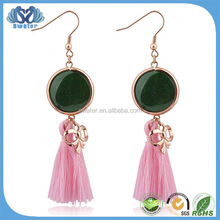 Gemstone Fashion Jewelry Big Stone Earrings