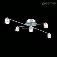 New design rattan ceiling light LED 15W Lights Ceiling Lamps iron acrylic chrome Finish