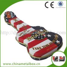 Fashion Guitar Tin Can Shape Peppermint Canndy Box