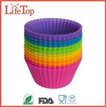 FDA LFGB Round Silicone Cupcake Molds   Baking Cup Cake