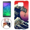 Creative Design Abstract Wave and Dogs Pattern Soft TPU Case for Samsung Alpha