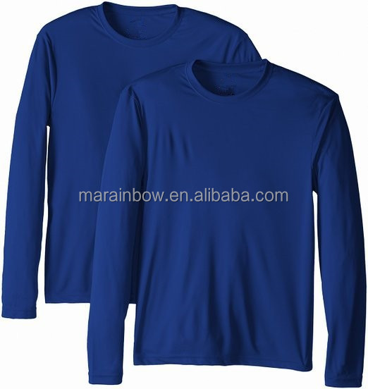 Wholesale custom long sleeve performance dry fit100 for Long sleeve fishing t shirts