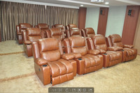 living room chairs manual recliner leather chair with cup holder