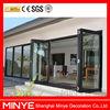 2015 China AS2047 folding door with AS2208 glass/thermal break bi folding door/Accordion door for patio room deviders
