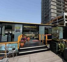 2015 prefabricated luxury container house / hotel / restaurant/library for sale