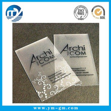Wholesale transparent clear pvc clothing hang tag with logo printing