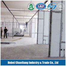 fireproof material hollow lightweight partition wall panel/ MgO board 200mm