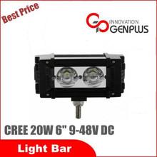 "6"" 20 watt Auto led bar light for tractor, machines"