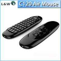 C120 Wireless Keyboard Android 4.0 Mini PC TV Palyer Box C120 Air Mouse C120 air fly mouse mini USB Remote Control for Google