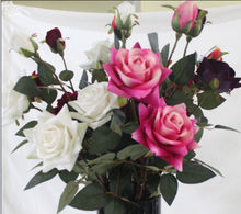 2014 Decoration Artificial Wedding Rose Flower /Fake Wedding Rose Flower