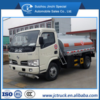 Dongfeng 4x2 3000L mini hot oil tank truck refuel truck refuel tanker truck for sale