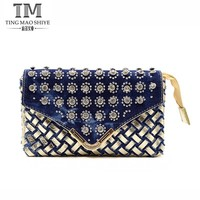 New Fashion flip Small handbag shoulder fold over crossbody messenger clutch envelope evening bag