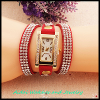 2015 women bracelet watches ladies vintage diamond retro style wrist watch fashion Korean fabric quartz watch AD0044