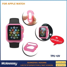 new arrival hard case silicone band for apple watch