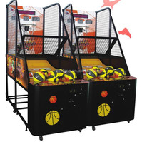 coin operated shooting hoop basketball /electronic street basketball game machine