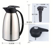 1000ml plastic coffee pot, keep liquid hot or cool, Blue color