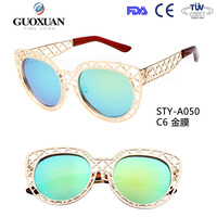 YWGX Quick Delivery Revo Coating hollow out frame Large 50's cat eye sunglasses rates