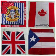 UK national flag bandana, country flag bandana, Custom logo printed flag cheap bandanas for sale