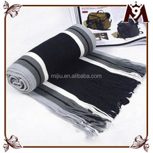 2015 joker black and white patchwork simplicity style man scarf knit