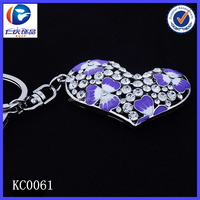 New Design blue and white diamond Evil Heart Different shapes Metal keychains