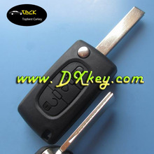 Fast Delivery 3 button car flip key shell for peugeot 508 key for peugeot 407 key with light button