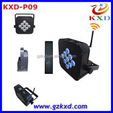 Professional 9pcs 3W RGB LED Flat Par Light For Sale