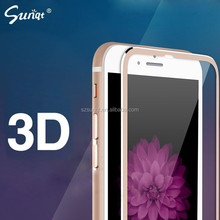 Sunqt hottest film 3D Titanium alloy small side for Iphone 6 tempered glass screen protector alibaba en espanol