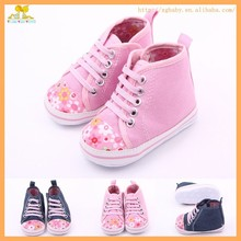 New arrival cute infant toddler canvas baby sport shoes for girls
